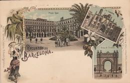 Barcelona Aprox. 1900 Litho - Barcelona