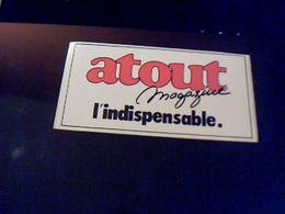 Autocollant  Publicite Magazine Atoutmagazine L'indispensable - Stickers