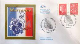 FRANCE 4109 Et 3744b FDC Premier Jour Marianne De Chefer - FDC