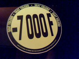Autocollant  Publicite  Automobile Seat Toledo - Stickers