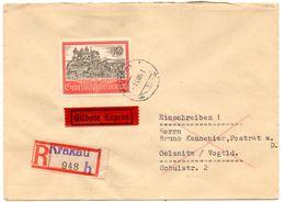 Lettre Recommandée De Krakau_Cracovie (01.08.1941) Pour Oelsnitz - 1939-44: 2ème Guerre Mondiale