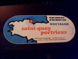 Autocollant  Publicite  Vacances A La Mer A Saint Quatay Portrieux Bretagne - Stickers