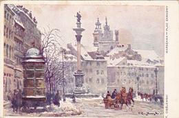 Cpa Warzawa - Plac Zamkowy - T Cieslewski - Poland