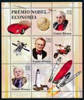 D- [400974] **/Mnh-Guinée-Bissau 2008 - Premier Prix Nobel Economique, Voitures, Fusée, Satéllites, Motos - Prix Nobel