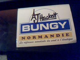 Autocollant Publicite Epreuve De Saut A L Elastique J Hacett Bungy Normandie La Reference Mondiale Du Saut A L Elastique - Stickers