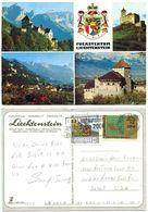 Liechtenstein 2000 Postcard Coat Of Arms & Scenic Views, Scott 550 & 1091 - Liechtenstein