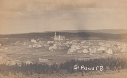 St. Peter's Cape Breton Nova Scotia Canada, View Of Town, Church, C1910s Vintage Real Photo Postcard - Cape Breton