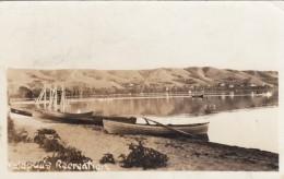 Katepwa Beach Saskatchewan Canada, Katepwa's Recreation, Beach Scene, Boats C1930s Vintage Real Photo Postcard - Saskatchewan