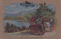 Irish Peat Moss Made Postcard, Irish Jaunting Car, Ireland, C1900s Vintage Postcard - Ireland
