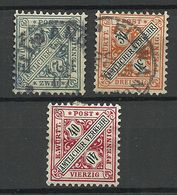 Deutschland Württemberg 1896/1902 Michel 214 - 216 Dienstmarken O/* - Wurtemberg