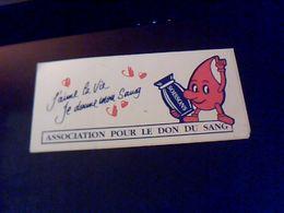 Autocollant  Publicite Association Donneurs  De Sang De Soissons - Stickers