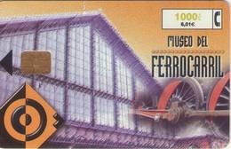 TARJETA TELEFONICA DE ESPAÑA USADA. 09.99 (410). MUSEO DEL FERROCARRIL. - Spain