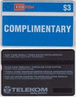 146/ Malaysia; Complimentary Card CO3. Complimentary, CN 108A - Malaysia