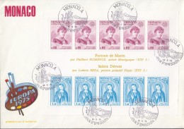 MONACO  Block 8, FDC, Europa CEPT: Gemälde 1975 - Europa-CEPT