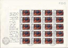 LIECHTENSTEIN 623-624, Kleinbogensatz, FDC, Europa CEPT: Gemälde 1975 - Europa-CEPT