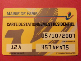 Stationnement Résidentiel Mairie De Paris PIAF (BF1217) - Frankrijk