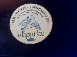 Autocollant  Publicite  Bar Hotel Restaurant Le Lapin Bleu A Sorgues - Stickers