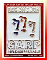 SUPER PIN'S GARP REGION DIJON (21) : Logo Groupenet Des ASSEDIC REGION DIJON (Côte D'Or) En émail Cloisonné Base Or - Administrations