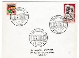 Salon Philatélique Fralex - BT Paris 1961 - Marianne Decaris YT 1263 + Bundespost Cor - Storia Postale