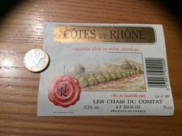 Etiquette De Vin « CÔTES DU RHÔNE - CHAIS DU COMTAT (26)» 12,5% - Côtes Du Rhône