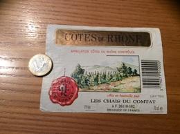 Etiquette De Vin « CÔTES DU RHÔNE - CHAIS DU COMTAT (26)» 12% Type 1 - Côtes Du Rhône