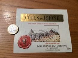 Etiquette ** De Vin « CÔTES DU RHÔNE - CHAIS DU COMTAT (26)» (large) - Côtes Du Rhône