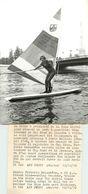 Sports *  Planche à Voile * Frédéric Beauchene S'entraine Sur La Seine  ( Photographie AFP 13x18 ) - Sports