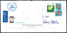 JAPAN NAGANO OLYMPIC VILLAGE 1998 - MAILED ENVELOPE ITALIAN NATIONAL TEAM - OLYMPIC WINTER GAMES NAGANO '98 - Winter 1998: Nagano