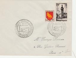 Ronchamp 1955 - Inauguration Chapelle Le Corbusier - Cachets Commémoratifs