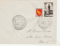 Ronchamp 1955 - Inauguration Chapelle Le Corbusier - Storia Postale
