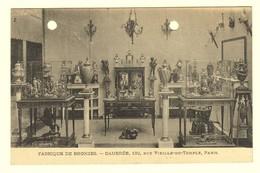 #11914[Postkaart] Fabrique De Bronzes. - Daubrée, 132, Rue Vieille-du-Temple, Paris [fabriek Brons Bronzen Beelden Vaze - Magasins