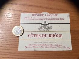 Etiquette * De Vin « CÔTES DU RHÔNE - HONORE LAVIGNE - Nuits-Saint-Georges (21)» - Côtes Du Rhône