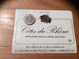 Etiquette ** De Vin « CÔTES DU RHÔNE - Le CELLIER Du ROUVILLER - VAISON-la-ROMAINE (84)» - Côtes Du Rhône