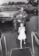 Floride US Air Force Parking De Supermarche Base Militaire Famille Ancienne Photo 1962 - War, Military