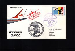 Deutschland / Germany 1978 Korean Airlines Airbus Flight  Lemwerder-Seoul - Airplanes