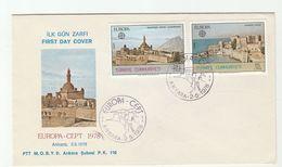 1978 TURKEY FDC EUROPA Stamps Cover - 1921-... Republic