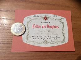 Etiquette De Vin « CÔTES DU RHÔNE - Cellier Des Dauphins - Tulette (26)» 1983 - Côtes Du Rhône