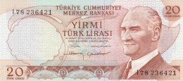 TURCHIA 20 LIRAS -UNC - Turchia