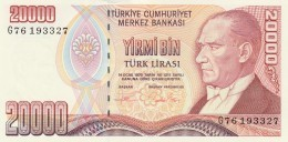 TURCHIA 20000 LIRAS -UNC - Turkey