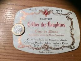 Etiquette De Vin « CÔTES DU RHÔNE - Cellier Des Dauphins - Tulette (26)» 1994 - Côtes Du Rhône