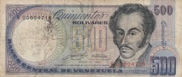 VENEZUELA 500 BOLIVARES 1990- VF (BA21 - Venezuela