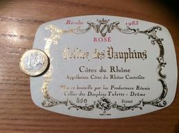 Etiquette De Vin « CÔTES DU RHÔNE ROSÉ - Cellier Des Dauphins - Tulette (26)» 1983 - Côtes Du Rhône