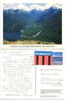 New Zealand 1991 Postcard Clinton Valley Milford Track, Nelson To U.S., Scott 994 - New Zealand