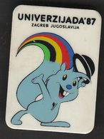 Universiade, Universiada Zagreb 1987 Croatia Yugoslavia / Sport / Pin, Badge, Badges / Mascot ZAGI - Badges