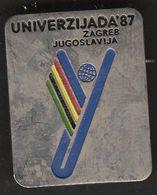 Universiade, Universiada Zagreb 1987 Croatia Yugoslavia / Sport / Pin, Badge, Badges / Official Logo - Badges