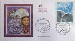 FRANCE 4144 FDC Premier Jour Tableau Les Globes De Coronelli Grue Cartographe Carte Map - FDC