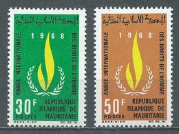 Mauritanie YT N°246/247 Année Internationale Des Droits De L'homme Neuf ** - Mauritania (1960-...)
