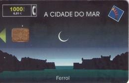 TARJETA TELEFONICA DE ESPAÑA USADA. 07.00 (412). A CIDADE DO MAR, FERROL. - Spain