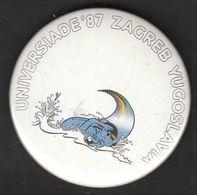 Universiade, Universiada Zagreb 1987 Croatia Yugoslavia / Sport / Pin, Badge, Badges / ZAGI / Swimming - Badges