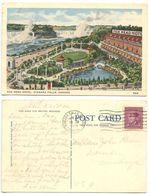 Canada 1949 Postcard Fox Head Hotel, Niagara Falls To U.S., Scott 266 KGV Coil - Niagara Falls